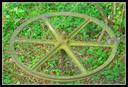 San Pelaio mina. Otarrak kablean zinzilik zirela, polea honen bidez garraitzen zuten ikatza.
