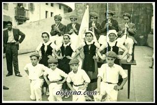 Luistarren jaiak 1957 (Argazkia Antonio Irureta)