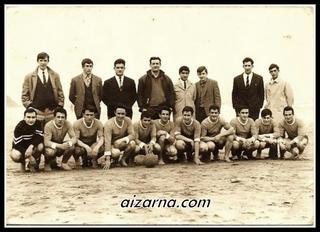 Aizarnako futbol ekipoa eta zuzendariak. (1967)