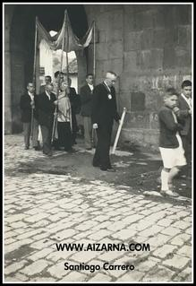 Zz-Procesión en Aizarna 1945 (2) Prozesioa Aizarnan 1945. (2)