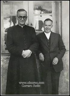 Zz- D. Ignacio Izueta, Sacerdote, con Félix Iruretagoyena.  D. Ignacio Izueta, Apaiza  eta  Félix Iruretagoyena.(1946)