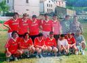 Aizarnako futbol taldea 1990. urte  inguruan  (Argazkian gazteak)