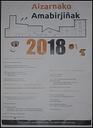 Aurtengo amabirjinetako jaien kartela 2018.
