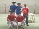 Amabirgiñetako lehiaketan, eskuz binakoko irabazdunak eta finalistak. Aizarnarrak nagusitu ziren.