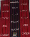 Altzola auzoari dagozkion baserrien izenak  ikusten dira eliza barruan dagoen  tapiz polit honetan.