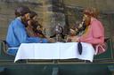 Aste Santuko  prozesioan erabiltzen dute irudi hau, San Vicente de la Sonsierran ateratako argazkia.