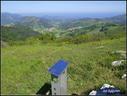 Hemendik begiratuta ikusten den paisaiaren mapa bat kokatu dute Santa Engrazin. Ekintza Agiro Mendi taldearena dugu.