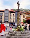 Santa Cruz de Zestona izenarekin ireki zen  herri honek,  gogoan du oraindik bere jatorrizko gurutzea. ( 1 )