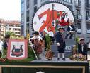 Azpeitia 700 urte sortu zela. Hau irudikatzen du San Sebastianetan kaleak zeharkatu zituen karrozak honek.